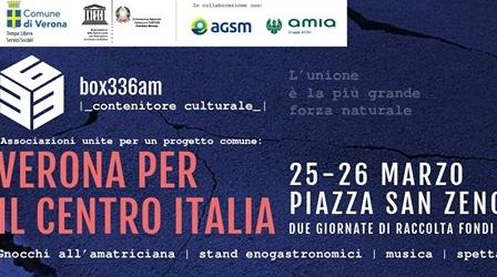 Box 3.36am - Verona per il centro Italia