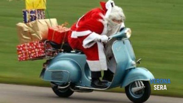 Babbo Natale arriva in Moto Eventi a Verona